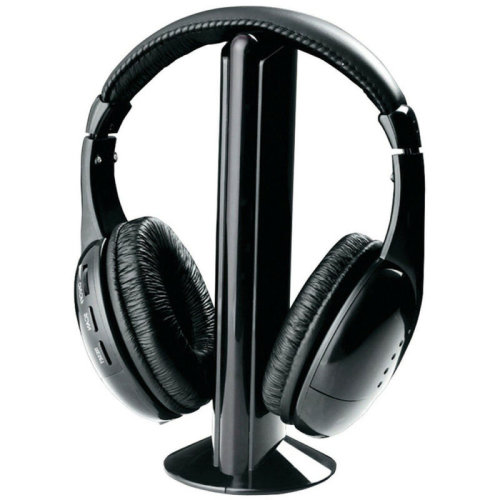 Wireless Headphones Wired Headset 5-in-1 FM Monitor Audio CD TV MP3 PC