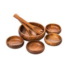 Acacia Wood Socorro 7Pc Salad Set