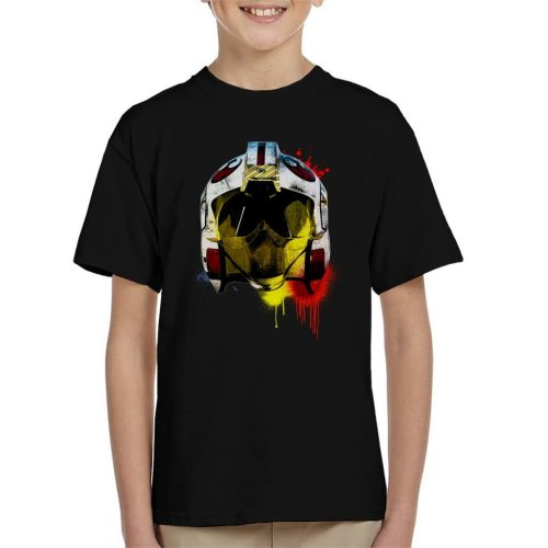 Original Stormtrooper Rebel Pilot Helmet Paint Splatter Kid's T-Shirt