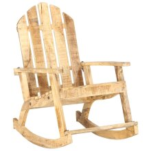vidaXL Solid Mango Wood Garden Rocking Chair Rocking Armchair Lounge Chair