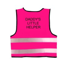Pink Baby Hi Visibility Reflective Vest Printed DADDY'S LITTLE HELPER
