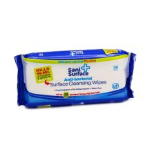 5 Pcs Sani Surface Anti-Bacterial Surface Cleaning Wipes 56 Wipes Big Pack With Free