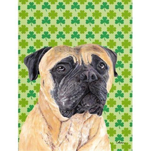 15 x 15 In. Mastiff St. Patricks Day Shamrock Portrait Flag, Garden Size