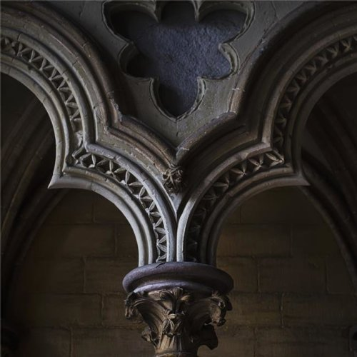 Arch Detail From The Nave of Ely Cathedral - Cambridgeshire England Poster Print - 15 x 15 in.