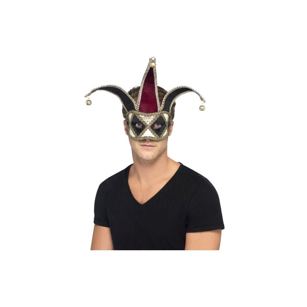 Fancy Dress Masquerade Venetian Hb Black Velvet Eye Mask With Feathers
