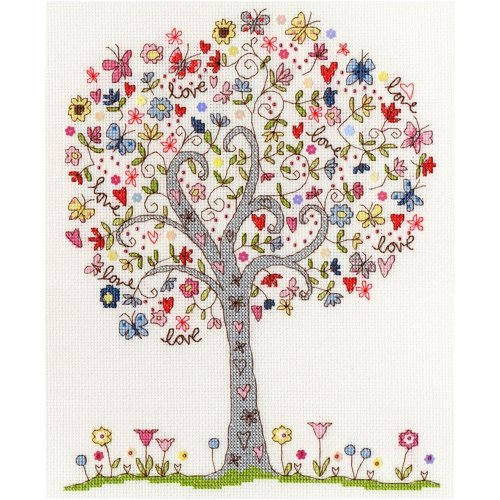 Bothy Threads Cross Stitch Kit - Love Tree by Kim Anderson XKA2
