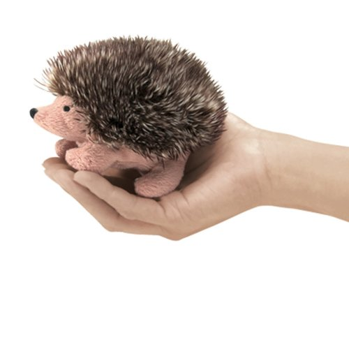 Finger Puppet - Folkmanis - Mini Hedgehog New Animals Soft Doll Plush Toys 2668