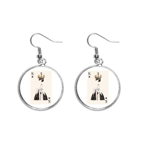 Printing Repeat Cloth Brown Colorful Art Ear Dangle Silver Drop Earring Jewelry Woman