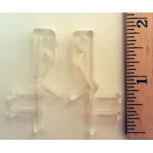 Hidden Valance clips for faux and real wood window blinds (10)