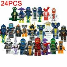 Ninjago 24pcs/set Mini figure Kai Jay Building Blocks Kids Toys
