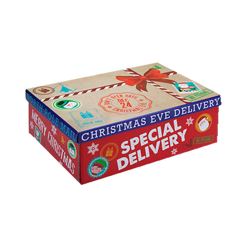 Christmas Eve Gift Box Special Delivery / Flat Pack - 21cm x 32cm x 11cm