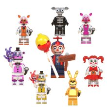 8Pcs FNAF Five Nights At Freddys Action  Minifigures Model Blocks Toy Fit Lego