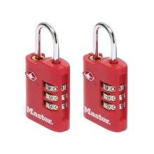 Master Lock 4686EURT TSA Combination Zinc Padlocks 3 Digit 30mm x 2