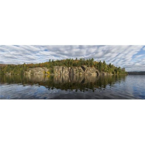 Panoramic View of The Cliffs in Rock Lake in Autumn Algonquin Park - Ontario Canada Poster Print - 35 x 13 in.