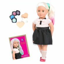 Our Generation 18-inch Amya Doll With Chalk Hair Deco