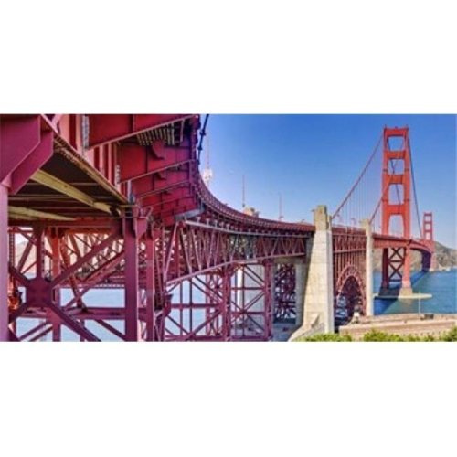 High dynamic range panorama showing structural supports for the bridge  Golden Gate Bridge  San Francisco  California  USA Poster Print by  - 36 x 12