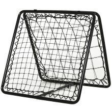 HOMCOM Adjustable Angle Rebounde Training Set w/All Weather Double Layer Net