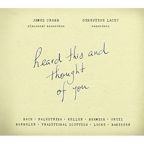 Genevieve Lacey/james Crabb - Heard This and Thought of You [CD]