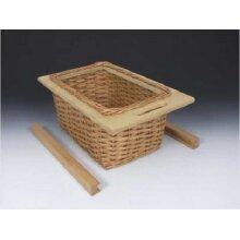 Pull out wicker baskets kitchen storage solution