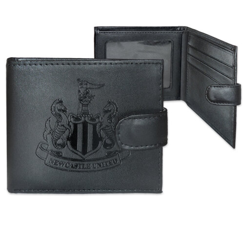Newcastle United Official Leather Wallet Embossed Crest Gift Boxed