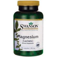 Swanson  Magnesium (Lactate), 84mg - 120 caps