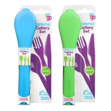 Sistema Cutlery To Go Set of 2, Blue and Green