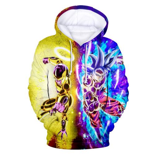 (S) 3D Printed Long Sleeve Hoodies Pullover Sweatshirt