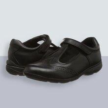 Toughees Shoes Girls Janine Comfort Insole, Black (Black), 11 Child UK