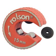 15mm Rotary Action Copper Pipe Cutter -  rolson copper pipe cutter rotary 15mm spare tube slicer 22mm selflocking wheels