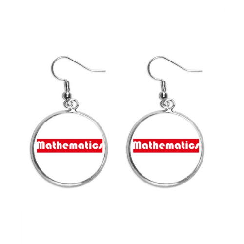 Course And Major Mathematics  Red Ear Dangle Silver Drop Earring Jewelry Woman