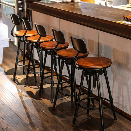 Industrial Retro Breakfast Bar Stools Seat Kitchen Dining Chair
