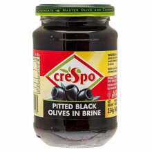 Crespo Pitted Black Olives 354G, Great for snacking