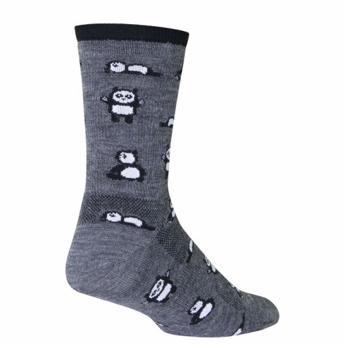 "Socks - Sockguy - 6"" Wool Crew Pandamonium S/M Cycling/Running"