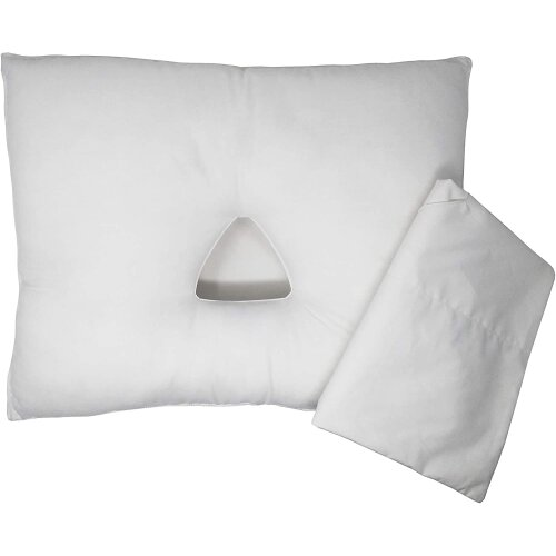 (White) Pillow with Triangular Ear Hole