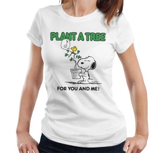 Peanuts Snoopy Plant A Tree Women's T-Shirt