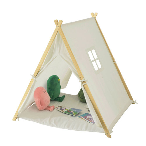 SoBuy® OSS02 W, Children Kids Play Tent Playhouse with Floor Mat