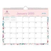 Blue Sky BLS101632 11 x 8.75 in. Monthly Wirebound Breast Cancer Awareness Wall Calendar, Garden Flower