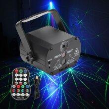 60 Patterns RGB LED Disco Light Laser Projection Lamp Stage Lighting
