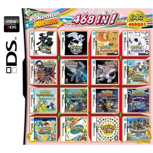 468 in 1 Video Games Cartridge Multicart for DS NDS NDSL NDSi 2DS 3DS