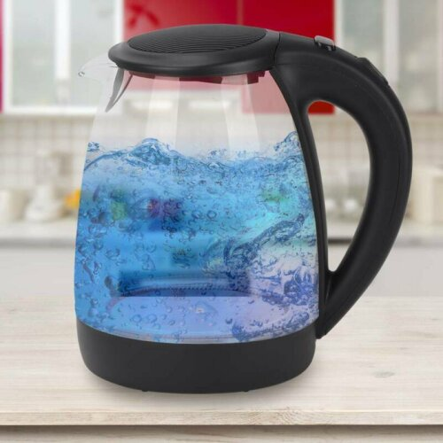 Corded Glass Kettle With LED Lights – 2L   Light Up Kettle
