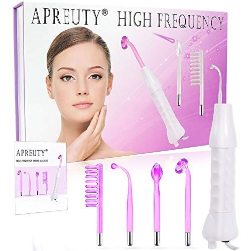 High Frequency Facial Machine, APREUTY Portable Handheld High Frequency Facial Wand Device Violet Ray Argon Acne for Personal Beauty Skin Tightening A