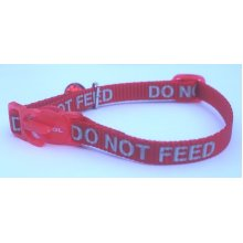 Ancol Red Cat Collar with reflective do not feed writing