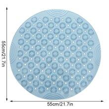 Round Non-slip Shower Mat Home Bathroom PVC Drain Holes Suction Cups Floor Massage Foot Pad
