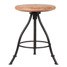 LABEL51 Wood Stool Black Side Table Chair kitchen Counter Furniture Indoor