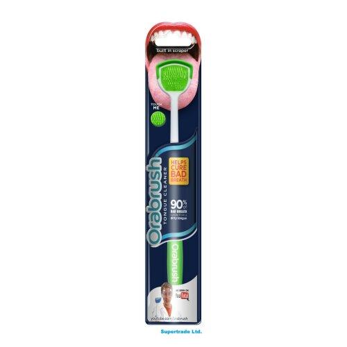 Dentek Orabrush Tongue Cleaner Scraper Soft Bristle Helps Cure Bad Breath