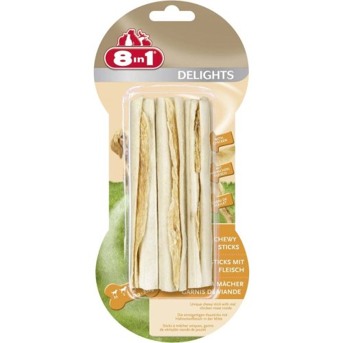 8in1 Dog Delights Rawhide Sticks (Pack of 6)
