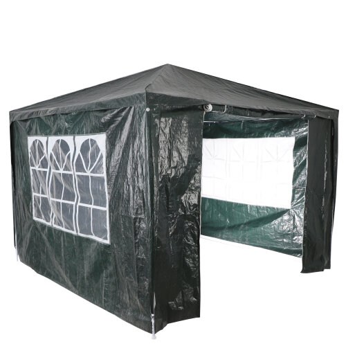 (Grey) Gazebo Marquee Canopy  Party Tent Outdoor 3M x 3M