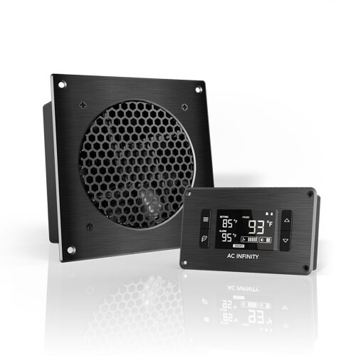 AC Infinity AIRPLATE T3 A/V Cabinet Single-Fan Cooling System