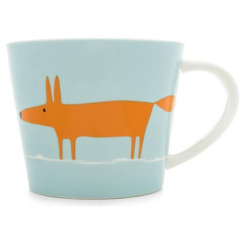 Scion Mr Fox Mug, Duck Egg and Orange, 0.525 Litre