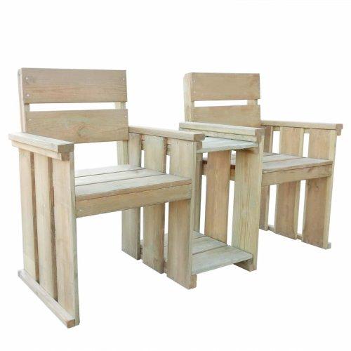 vidaXL Garden Loveseat Bench 150x55x89cm Impregnated Pinewood Outdoor Seat